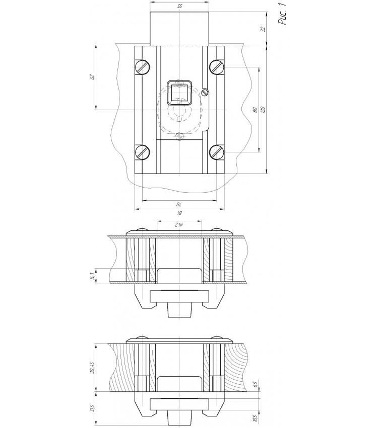 Замок Накладной Барьер-3