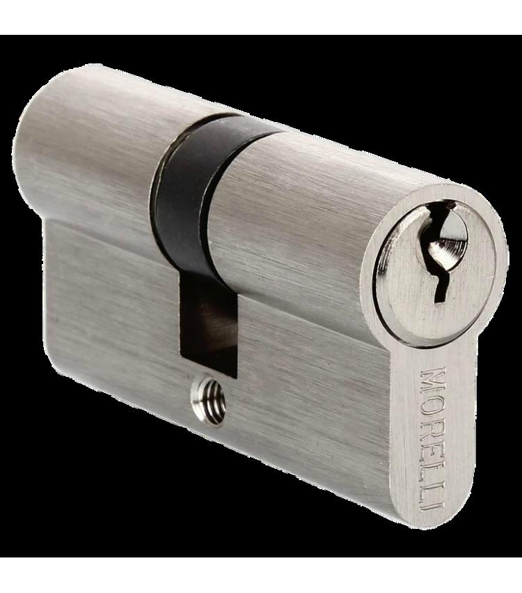 Ключевой цилиндр MORELLI ключ/ключ (70 мм) 70C SN Цвет - Белый никель