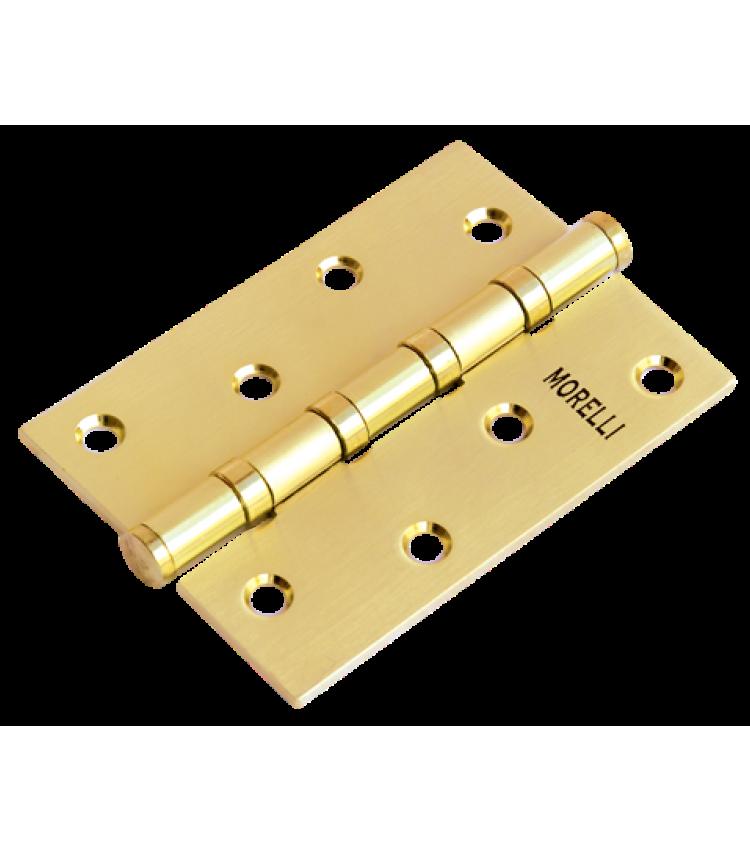 Петля Morelli стальная универсальная MS 100X70X2.5-4BB SG Цвет - Матовое золото