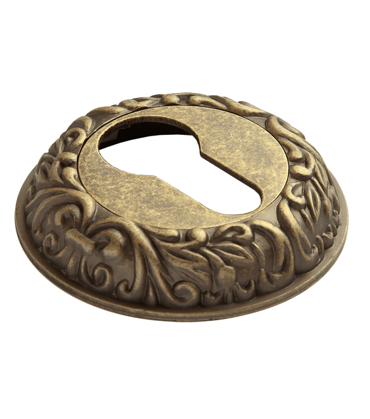 Накладки на ключевой цилиндр RUCETTI RAP-CLASSIC KH OMB Цвет - старая античная бронза
