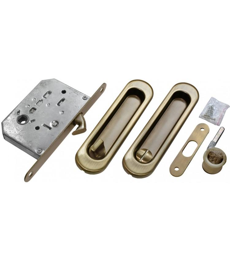 Комплект для раздвижных дверей MORELLI MHS150 WC AB Цвет - Античная бронза