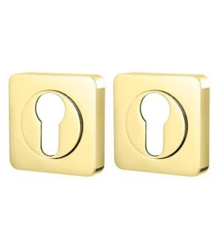 Накладка под цилиндр ET QL SG/CP-4 матовое золото/хром